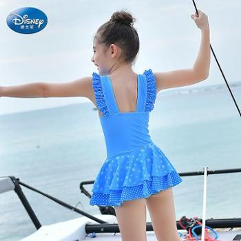 Disney/迪士尼 迪士尼冰雪奇缘 儿童泳衣女童女孩中大童连体裙式公主可爱游泳装