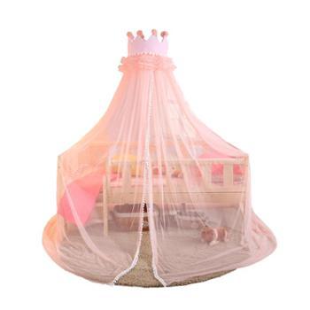 BABY TEND/贝珍婴童婴儿床蚊帐带支架宝宝蒙古包儿童拼接床折叠全罩式通用公主风防蚊