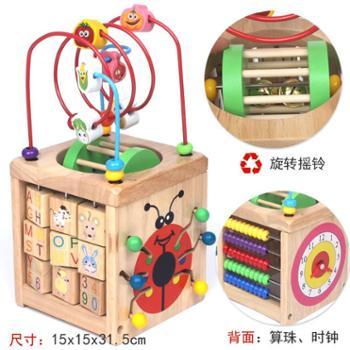 几何形状数字配对六面屋认知智力盒宝宝益智早教积木玩具1-2-3岁