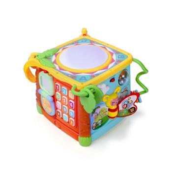 谷雨益智玩具儿童形状配对积木1-2-3周岁一岁半宝宝六面盒智力盒