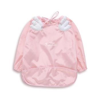 春夏 宝宝长袖防水速干饭衣反穿衣 婴儿童免洗罩衣吃饭衣防护衣