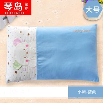 琴岛全棉儿童决明子枕头卡通幼儿园宝宝学生颈椎护颈枕芯