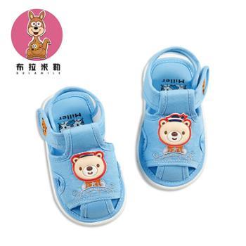 BradMiller/布拉米勒宝宝凉鞋女夏0-1-2岁男婴儿布鞋软底叫叫鞋6-12月防滑春季学步鞋