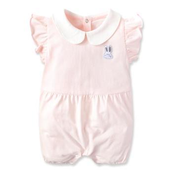 Goodbaby/好孩子新生儿衣服夏季婴儿连体衣短袖女宝宝外出衣服哈衣爬服