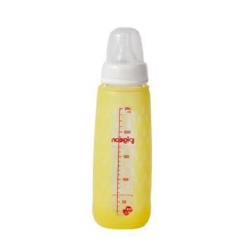Pigeon/贝亲 标准口径玻璃奶瓶安心组合240ml-黄AA118/蓝AA119