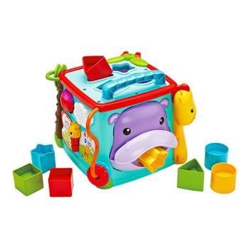 FISHER-PRICE/费雪 探索学习六面盒 音乐形状配对认知双语早教益智儿童玩具