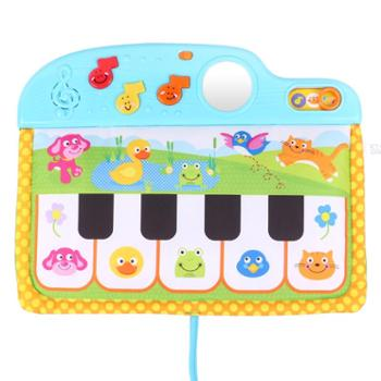winfun/英纷 快乐动物踏板琴0-12个月宝宝脚踏琴音乐早教婴儿车挂床挂玩具