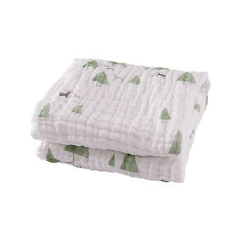棉花堂新生婴儿浴巾纯棉儿童纱布被子夏季吸水加厚宝宝洗澡巾盖毯