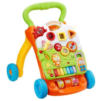 甜逗 婴儿宝宝学步车手推车音乐多功能防侧翻助步车玩具