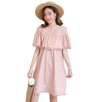 哺乳衣服夏季外出时尚辣妈款哺乳期产后喂奶连衣裙夏装潮妈中长款