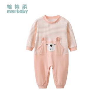 棉棉柔 宝宝衣服可爱超萌婴儿连体衣纯棉宝宝连体睡衣婴幼儿春秋