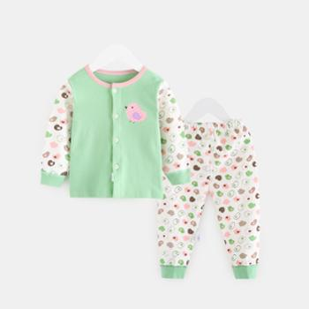 CICIIBEAR/齐齐熊 男女童秋装内衣套装婴幼儿宝宝秋衣秋裤纯棉长袖睡衣