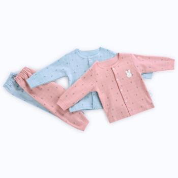 CICIIBEAR/齐齐熊 秋款新品宝宝长袖内衣套装婴幼儿格子纯棉睡衣两件套