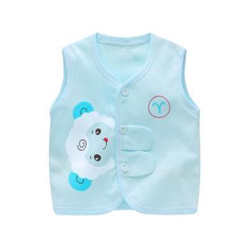 BORBOON/波步宝宝小马甲初生婴儿儿童背心春夏纯棉婴幼儿无袖坎肩外穿