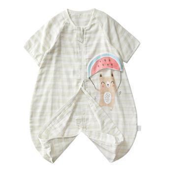 wellber/威尔贝鲁 婴儿睡袋春秋薄款小孩防踢被纱布睡袋
