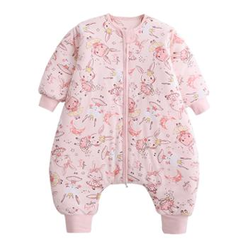 呼西贝分腿睡袋冬季宝宝睡衣分体式小孩睡服