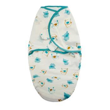 呼西贝防惊跳睡袋初生儿包裹巾宝宝连体防踢被子