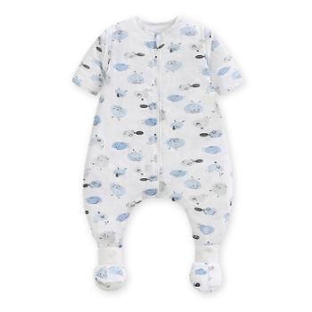 Goodbaby/好孩子婴儿睡袋儿童短袖睡袋宝宝分腿式连脚套睡袋