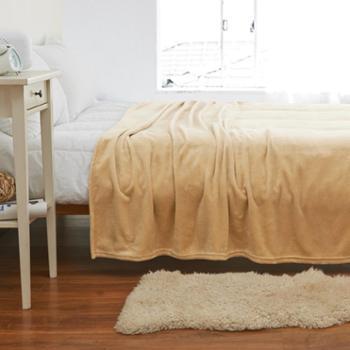 保暖珊瑚绒毯子 法兰绒法莱绒毛毯被子单双人床单空调毯秋冬季 M0