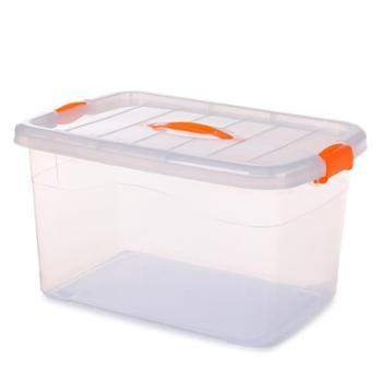 大号塑料收纳箱有盖透明衣物整理箱车载储物箱周转箱收纳盒生活用品日常收纳