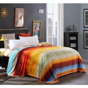 圣艾璐妮超柔云貂绒毛毯单人双人小毛毯珊瑚绒毛毯升级款