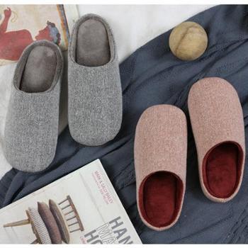 情侣棉拖鞋冬室内男女家居鞋加厚底保暖软底防滑家用月子鞋