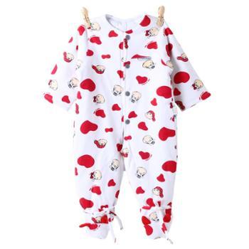婴儿连体衣秋冬装纯棉爬服男女宝宝外出加棉保暖哈衣新生儿衣服