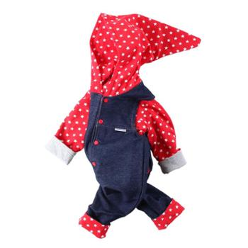 依夏源新款婴儿双层两面穿套装男女宝宝春秋背带裤外出服开裆连身衣
