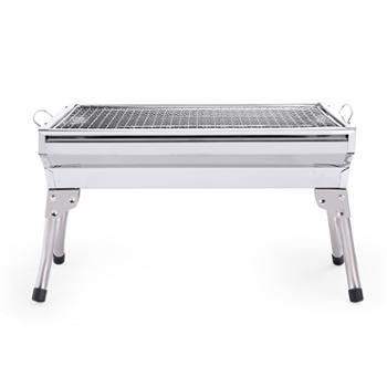 汉乐美途烧烤炉HL-0601户外便携式折叠不锈钢烧烤架