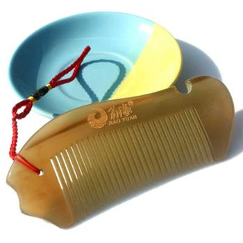 角缘正品 天然稀缺白水牛角梳子 鱼形可爱包包随身梳 防脱护发