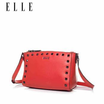 ELLE女包铆钉包单肩斜挎迷你方包欧美时尚60287时尚女包包