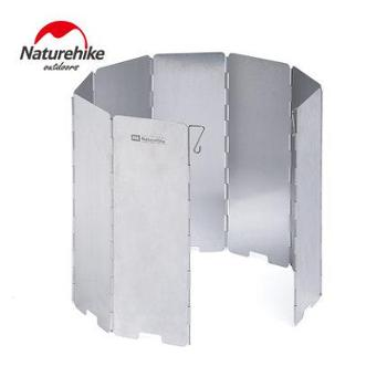 NH挪客户外野营折叠屏风式炉具防风挡风板轻便野餐野炊装备