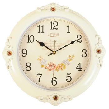 吉美嘉16寸静音机芯欧式挂钟 客厅创意挂表现代时钟大石英挂钟表