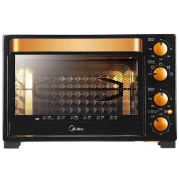 Midea/美的 T3-L326B 电烤箱家用烘焙多功能独立控温32L烤叉烧烤