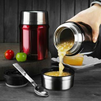 德国nayasa焖烧壶焖烧杯不锈钢保温桶创意闷烧罐真空提锅保温饭盒