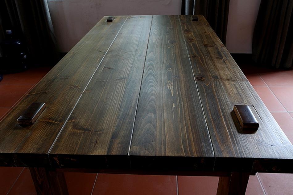 怡巢做旧原木茶桌