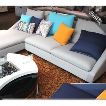 布艺沙发客厅组合/小户型沙发/简约温馨舒适/长沙现代沙发