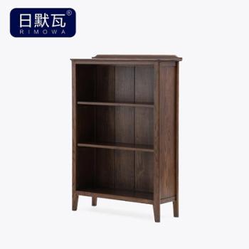 日默瓦 美式进口红橡木书柜乡村置物架多层书架 纯实木书柜MG09