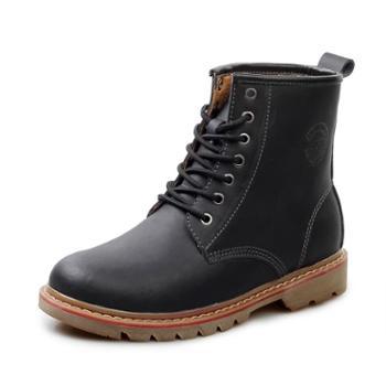 nowising冬季马丁靴男英伦高帮鞋男士真皮短靴皮靴经典男靴