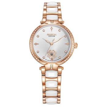 劳士顿ROSDN女士手表陶瓷女表石英时尚简约镶钻女式表钟表3621
