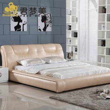 君梦美品牌软床 皮床 双人床真皮床 软体床 软床 1.8米婚床 1370