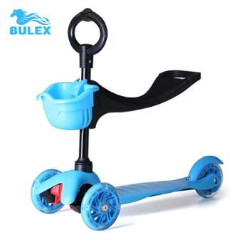 瑞士正品儿童滑板车三轮小孩三合一童车闪光折叠脚踏车宝宝扭扭车