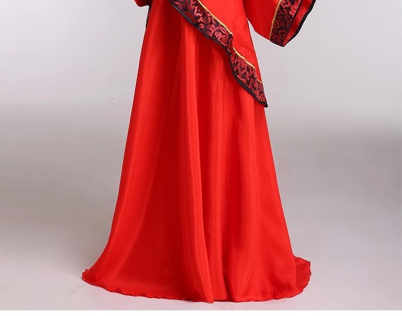 汉代古装服装贵妃汉服女装冬装曲裾中式汉代婚服喜服演出服女图片