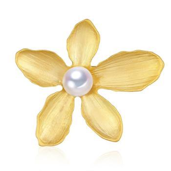 仙蒂瑞拉SANDYRILLA枫叶9-10mm淡水珍珠胸针优美时尚