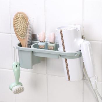 创意浴室 壁挂式 吹风机架子 浴室多功能挂架 无痕收纳 置物架