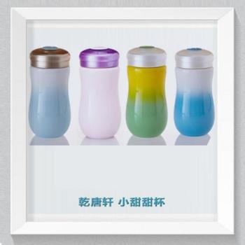 乾唐轩活瓷杯甜心单层随身杯水杯茶杯杯子陶瓷杯(1个)380毫升颜色随机