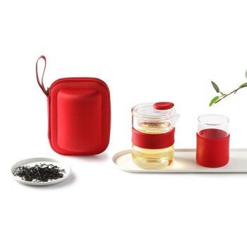 多样屋便携玻璃茶杯组合套装