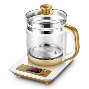 生活元素(LIFEELEMENT)养生壶微电脑多功能玻璃烧水壶花茶壶大容量1800mlD49