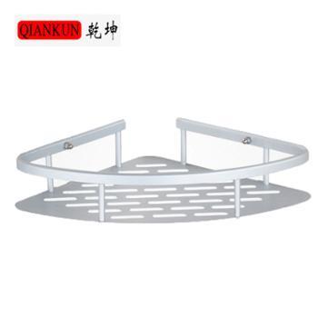 【乾坤】三角架单层太空铝置物架 无痕创意厨房卫生间 收纳架