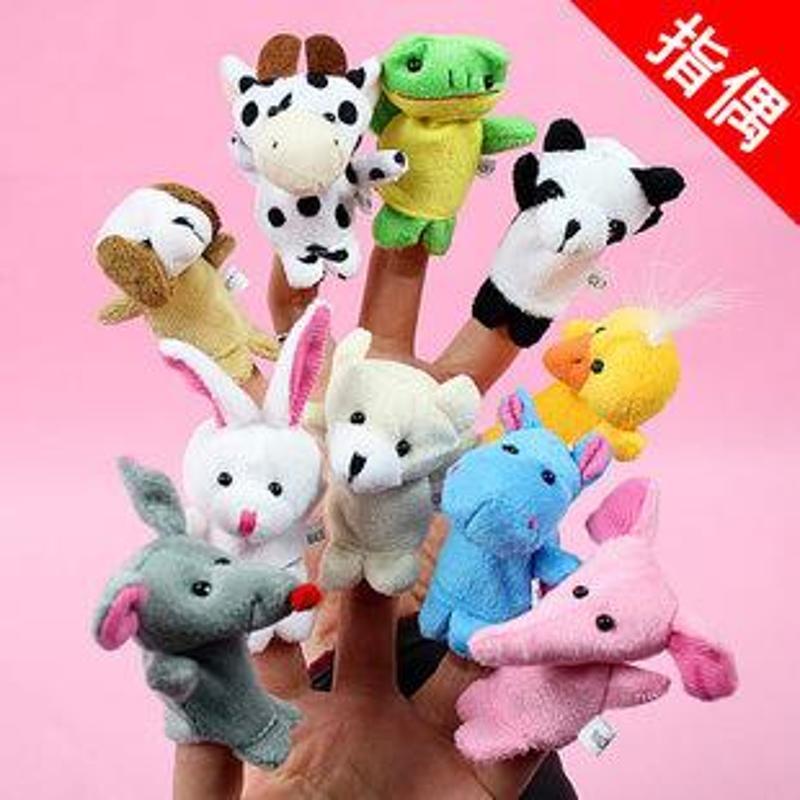 小儿美宝宝小动物指偶 讲故事好玩具 婴幼儿手偶指偶 整包不同款